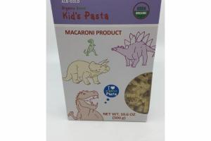 ORGANIC DINOS KID'S PASTA MACARONI PRODUCT