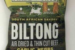 GARLIC, HERBS & SPICES BILTONG AIR DRIED & THIN CUT BEEF