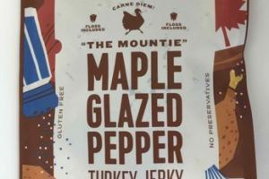 THE MOUNTIE MAPLE GLAZED PEPPER TURKEY JERKY