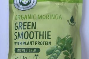 UNSWEETENED ORGANIC MORINGA GREEN SMOOTHIE WITH PLANT PROTEIN SMOOTHIE MIX