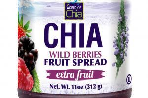 EXTRA FRUIT WILD BERRIES FRUIT SPREAD CHIA