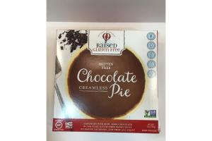 CHOCOLATE CREAMLESS PIE