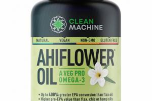 AHIFLOWER OIL A VEG PRO OMEGA-3 DIETARY SUPPLEMENT VEGAN SOFTGELS