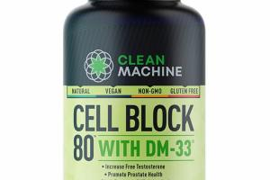 CELL BLOCK WITH DM-33 DIETARY SUPPLEMENT CAPSULES
