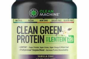 CLEAN GREEN PROTEIN WITH LENTEIN DIETARY SUPPLEMENT, VANILLA CHAI