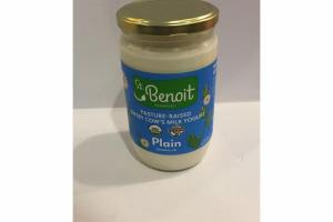 PLAIN JERSEY COW'S MILK YOGURT