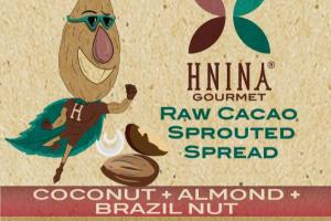 COCONUT + ALMOND + BRAZIL NUT RAW CACAO SPROUTED SPREAD