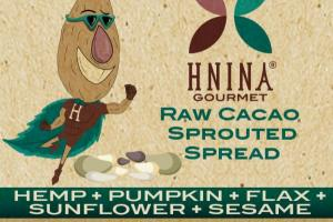 HEMP + PUMPKIN + FLAX + SUNFLOWER + SESAME RAW CACAO SPROUTED SPREAD