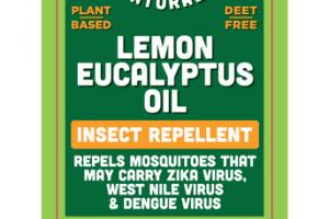 INSECT REPELLENT, LEMON EUCALYPTUS OIL
