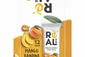 MANGO BANANA FREEZE DRIED FRUIT BITS BARS