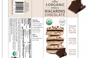 CHOCOLATE 3 ORGANIC FRENCH MACARONS