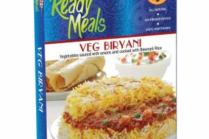 VEG BIRYANI VEGETABLES SAUTED WITH ONIONS AND COOKED WITH BASMATI RICE