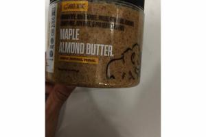 MAPLE ALMOND BUTTER.