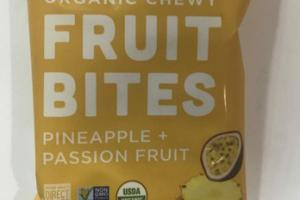 ORGANIC PINEAPPLE + PASSION FRUIT CHEWY FRUIT BITES
