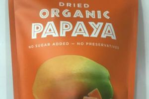 DRIED ORGANIC PAPAYA