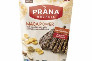 MACA POWER DARK CHOCOLATE BARK WITH CORN FLAKES, ALMONDS & MACA