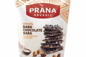 CARAMELIZED NUTS WITH SEA SALT CARAZEL DARK CHOCOLATE BARK SNACK