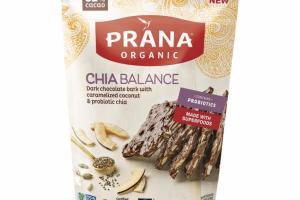 CHIA BALANCE DARK CHOCOLATE BARK WITH CARAMELIZED COCONUT & PROBIOTIC CHIA