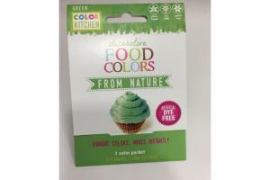 DECORATIVE FOOD COLORS FROM NATURE, GREEN