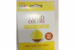 DECORATIVE FOOD COLORS FROM NATURE, YELLOW