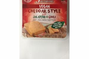 VEGAN CHEDDAR STYLE WITH JALAPENO & CHILI