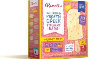 BIRTHDAY PARTY WHIPPED FROZEN GREEK YOGURT BARS