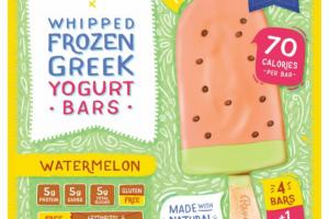 WATERMELON WHIPPED FROZEN GREEK YOGURT BARS
