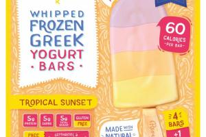 TROPICAL SUNSET WHIPPED FROZEN GREEK YOGURT BARS