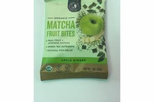 APPLE GINGER ORGANIC MATCHA FRUIT BITES