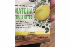 LEMON ORGANIC MATCHA FRUIT BITES