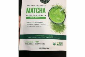 ORGANIC JAPANESE MATCHA 100% PURE GREEN TEA POWDER