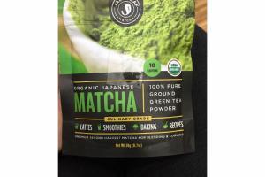 ORGANIC JAPANESE MATCHA 100% PURE GROUND GREEN TEA POWDER