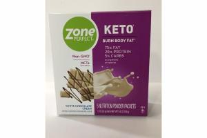 WHITE CHOCOLATE CREAM KETO NUTRITION POWDER PACKETS