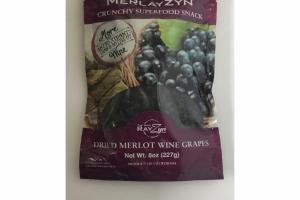 DRIED MERLOT WINE GRAPES CRUNCHY SUPERFOOD SNACK