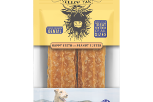 HAPPY TEETH WITH PEANUT BUTTER CHEW DENSITY DENTAL TREAT FOR DOGS