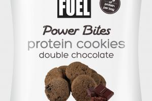 DOUBLE CHOCOLATE POWER BITES PROTEIN COOKIES