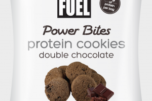 DOUBLE CHOCOLATE POWER BITES PROTEIN COOKIES