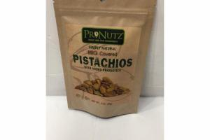 BBQ COVERED PISTACHIOS WITH ADDED PROBIOTICS