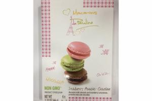 MACARONS WITH ALMONDS AND STRAWBERRY, PISTACHIO NUTS AND CHOCOLATE