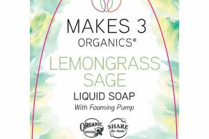 LIQUID SOAP WITH FOAMING PUMP, LEMONGRASS SAGE