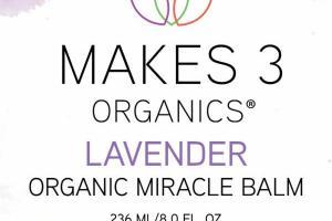 ORGANIC MIRACLE BALM, LAVENDER