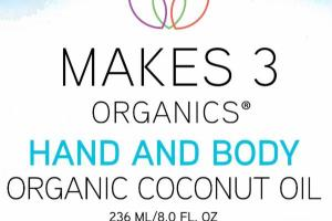 HAND AND BODY ORGANIC COCONUT OIL