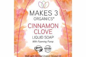 LIQUID SOAP WITH FOAMING PUMP, CINNAMON CLOVE