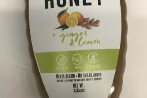 GINGER & LEMON RAW HONEY