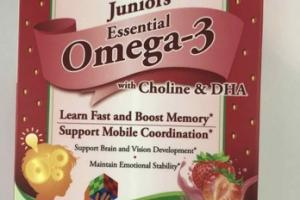 JUNIORS ESSENTIAL OMEGA-3 WITH CHOLINE & DHA JELLY BITES DIETARY SUPPLEMENTS