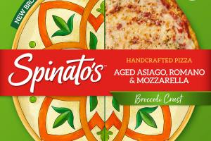 AGED ASIAGO, ROMANO & MOZZARELLA BROCCOLI CRUST HANDCRAFTED PIZZA