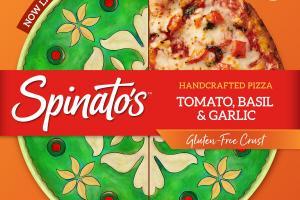 TOMATO, BASIL & GARLIC GLUTEN-FREE CRUST HANDCRAFTED PIZZA