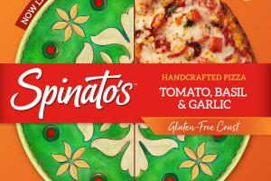 TOMATO, BASIL & GARLIC GLUTEN-FREE CRUST HANDCRAFTED PIZZA