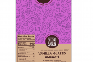 VANILLA GLAZED OMEGA-3 ALMONDS, DRIED BLUEBERRIES, CRANBERRIES WALNUTS