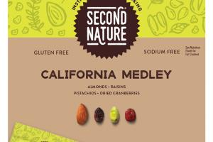 CALIFORNIA MEDLEY, ALMONDS, RAISINS PISTACHIOS, DRIED CRANBERRIES